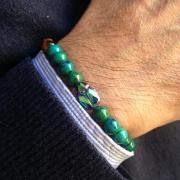 pulsera hombre northstone green scarab