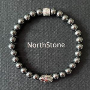 pulsera hombre northstone HEMATITA grey SCARAB