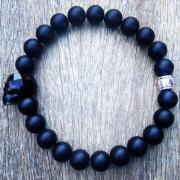 pulsera NorthStone Skull Swarovski black