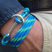 pulsera hombre ancla formosa color azul