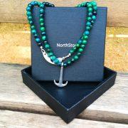 collar ancla verde
