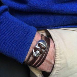 pulsera de cuero calavera