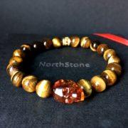 NorthStone pulsera para hombre Skull Swarovski Red Ojo de tigre
