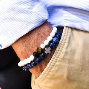 Pulseras para hombre northstone azul y blanco