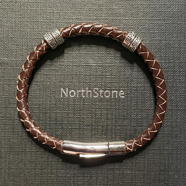 pulsera piel aros northstone