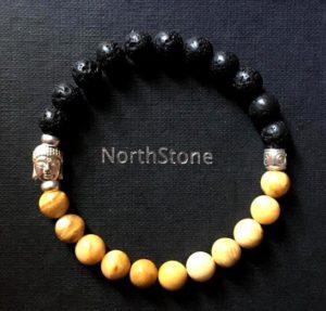 pulsera northstone buda bicolor plata