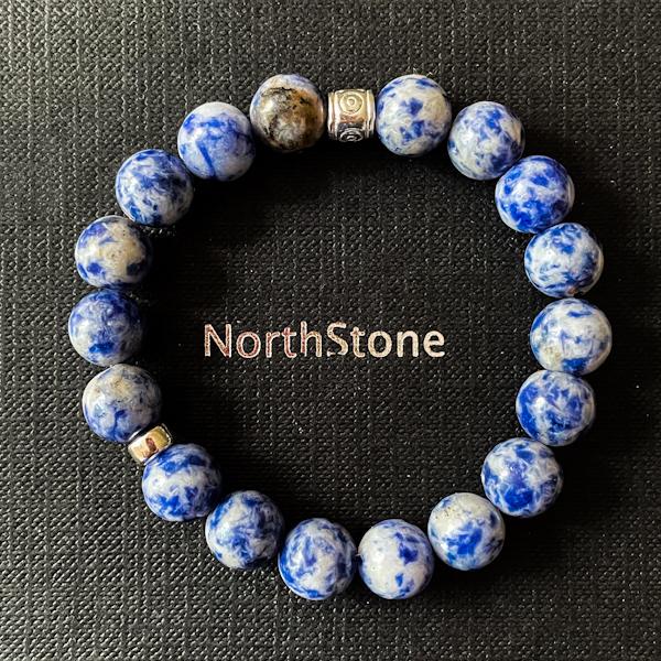 PULSERA HOMBRE NORTHSTONE MAGNUM BLUE JEANS PLATA