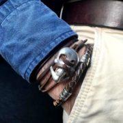 pulseras hombre dúo pirata piel northstone