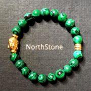 Pulsera hombre Northstone Buda oro Malaquita