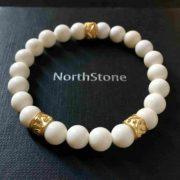 PULSERA NORTHSTONE WHITE CORAL