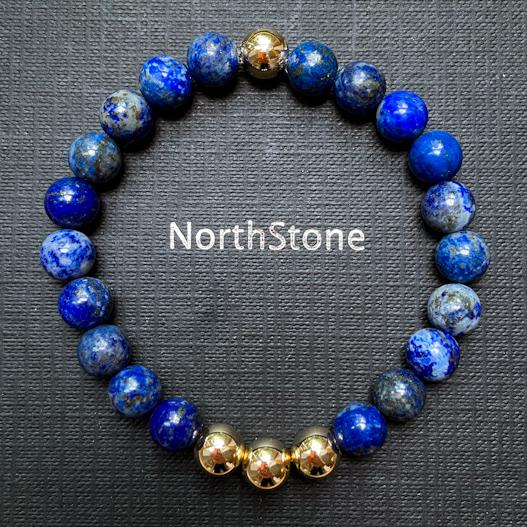 pulsera northstone aurus lapislazuli oro