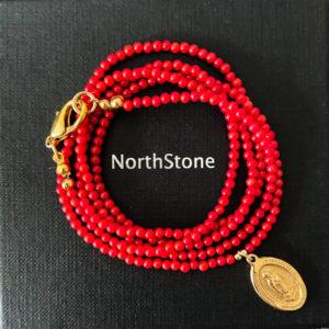 colgante northstone coral medalla