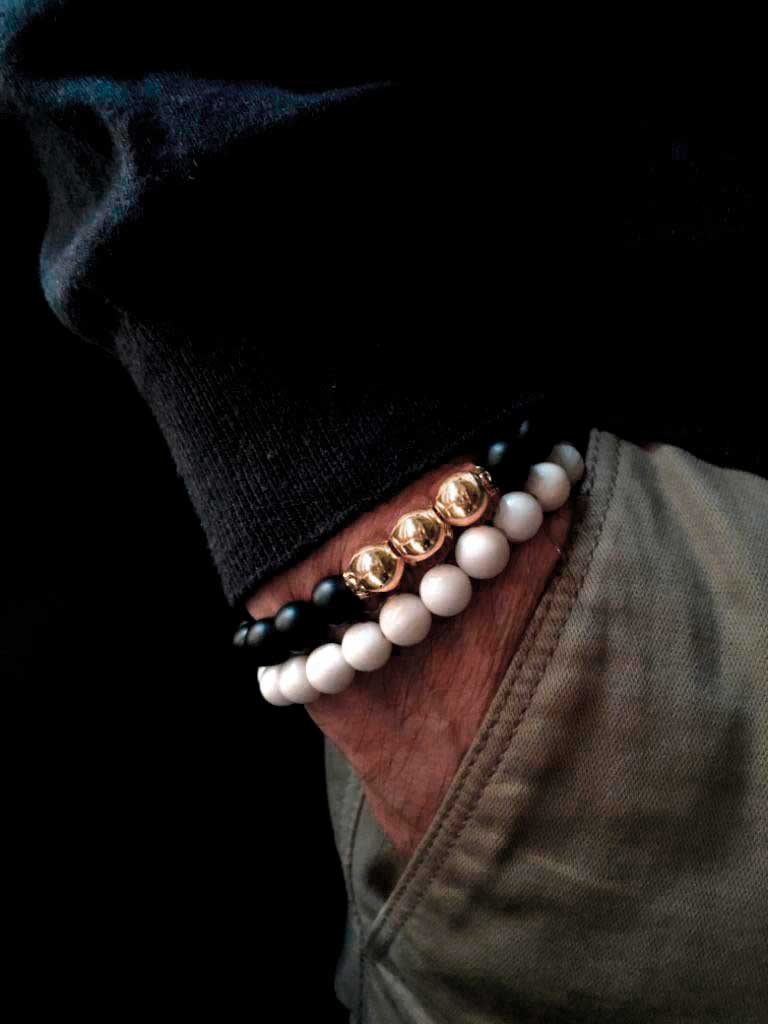 Pulseras para hombre NorthStone Duo Black and Withe