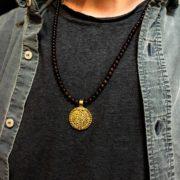 Colgante hombre Northstone Garnet oro