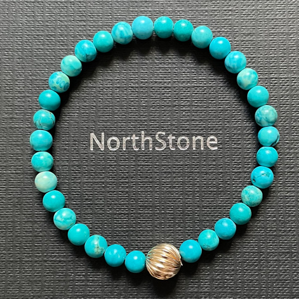 pulsera northstone malaga turquesa