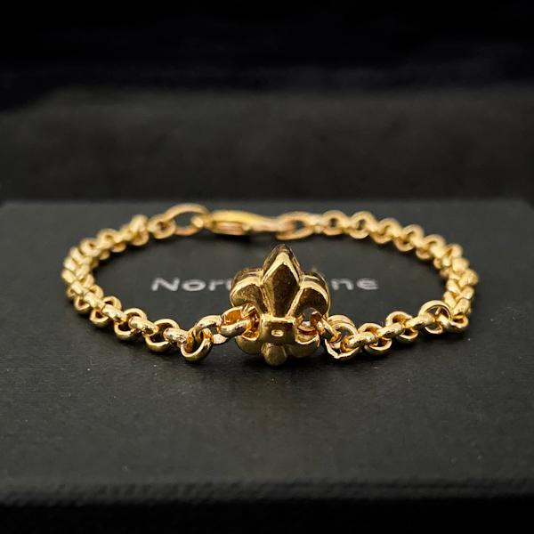 pulsera northstone flor de lis cadena