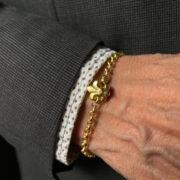 cadena flor de lis oro