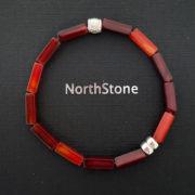 pulsera northstone hombre burdeos cube