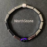 pulsera hombre northstone metallic scarab blue